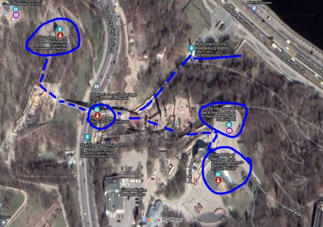 Kiev Cam Köprü - Kiev Glass Bridge - Friendship of Nations Arch - Kiev Halkların Dostluğu Anıtı - Mariyinsky Park - Kiev Free Walking Tour - Kiev Gizli Yerler