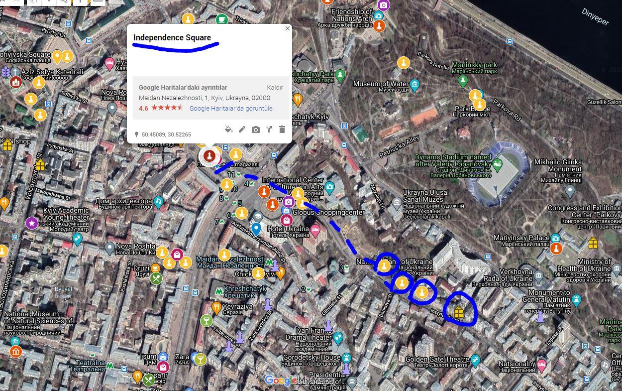 Kiev Adım Adım Gezi Rehberi - Ağlayan Dul Evi-Çikolata Ev-Canavarlı Ev - Kievin En Güzel Mahallesi - Lypky-hellofromworld.com