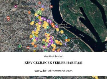 Kiev Gezilecek Yerler Haritası » www.hellofromworld.com
