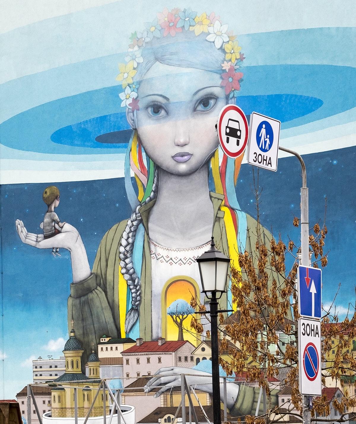Kiev Gezilecek Yerler: Kiev'in En Meşhur Mural'ı Andrevski Yokuşu